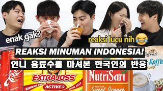 REAKSI ORANG KOREA NYOBA MINUMAN INDONESIA!