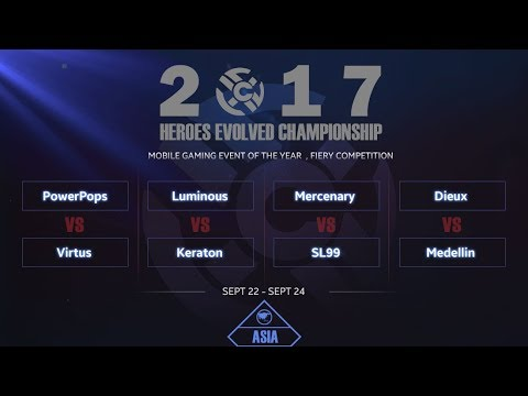 Heroes Evolved: 2017 HEC ASIA Arena- Day1