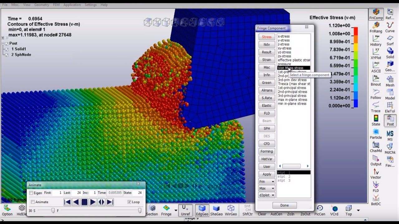Simulation of cutting by the SPH method in LS-DYNA  Video tutorial