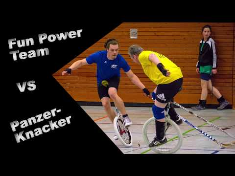 Einradhockeyturnier Teil 3: Fun Power Team vs. Panzerknacker