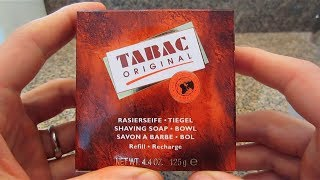 Tabac Shaving Soap - Lather Review