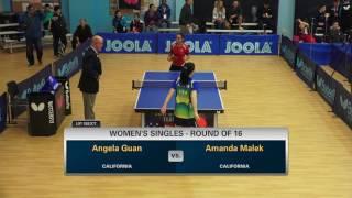 Amanda Malek v Angela Guan, Day 1 Women's Round of 16