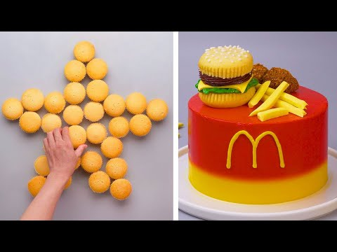 How To Make Hamburger Cake Decorating Ideas | Most Satisfying Cake Decorating | Tasty Dessert