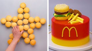 How To Make Hambขrger Cake Decorating Ideas | Most Satisfying Cake Decorating | Tasty Dessert