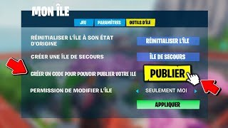 HOW PUBLIER his ISLAND (CREATE a CODE) in CREATIVE MODE on FORTNITE