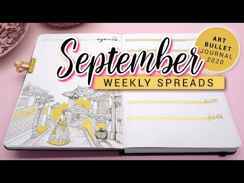 SEPTEMBER Bullet Journal WEEKLY 2020 South Korean Bullet Journey PLAN WITH ME