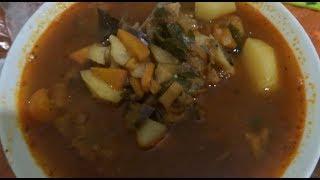 Вкуснейший суп с баклажанами