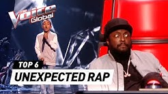 UNEXPECTED RAP Auditions in The Voice Kids