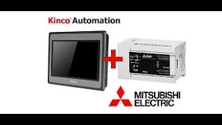 Контролер  Mitsubishi FX5U +  Панель управления Kinco MT4434TE