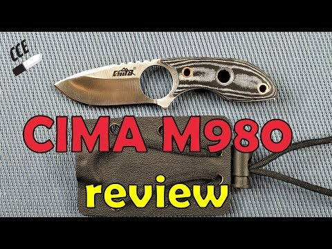 CIMA M980 Neck Knife -  First Fixed Blade Friday Review Of 2019