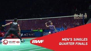 QF | MS | CHOU Tien Chen (TPE) [4] vs. Jonatan CHRISTIE (INA) [6] | BWF 2019
