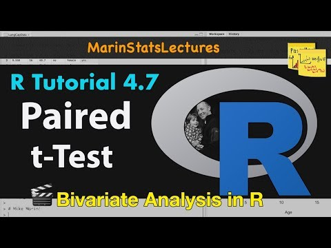 Paired t-Test in R with Examples | R Tutorial 4 7 | MarinStatsLectures