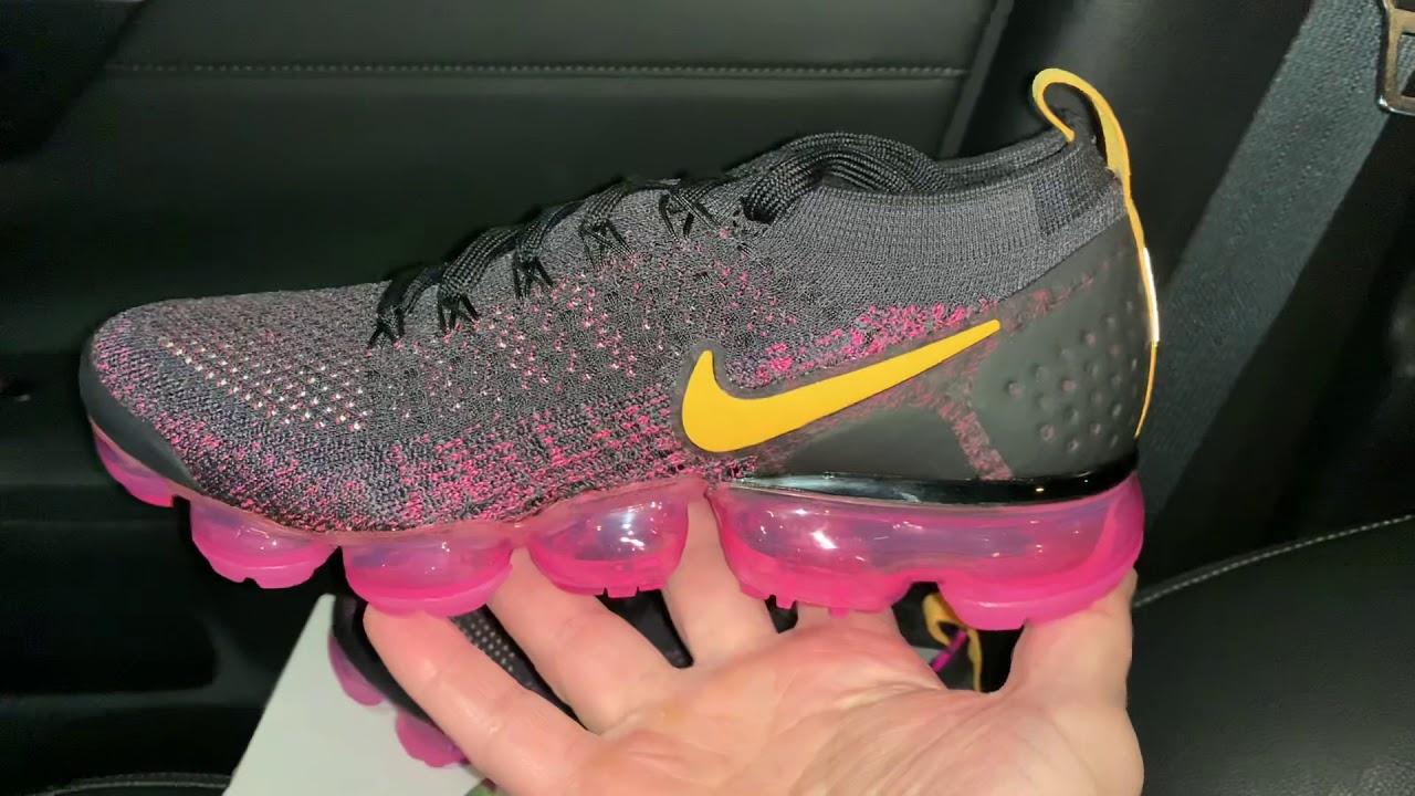 c5f793f021ab Nike Vapormax Flyknit 2 Pink Blast womens sneaker - YouTube