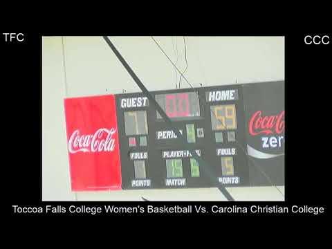 Toccoa Falls College Women's Basketball Vs. Carolina Christian College