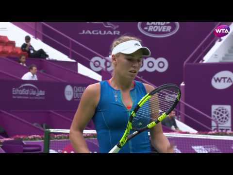 2017 Qatar Total Open First Round | Caroline Wozniacki vs Kiki Bertens | WTA Highlights