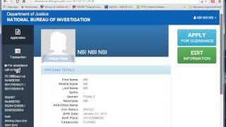 Applying New NBI Clearance Online PH