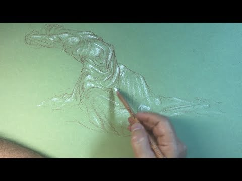 Drapery with a Figure - Sketching with Sheldon #002