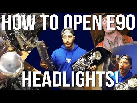 How to Disassemble a Bmw E90 Headlight