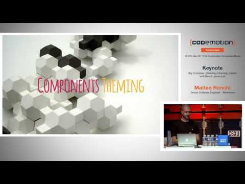 Building a theming system with React - Matteo Ronchi - Codemotion Amsterdam 2017
