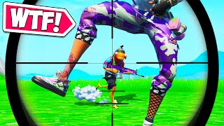 LUCKIEST ACCIDENTAL SNIPE EVER!! - Fortnite Funny Moments #653