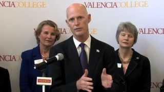 Florida Governor Rick Scott Press Conference at Valencia College