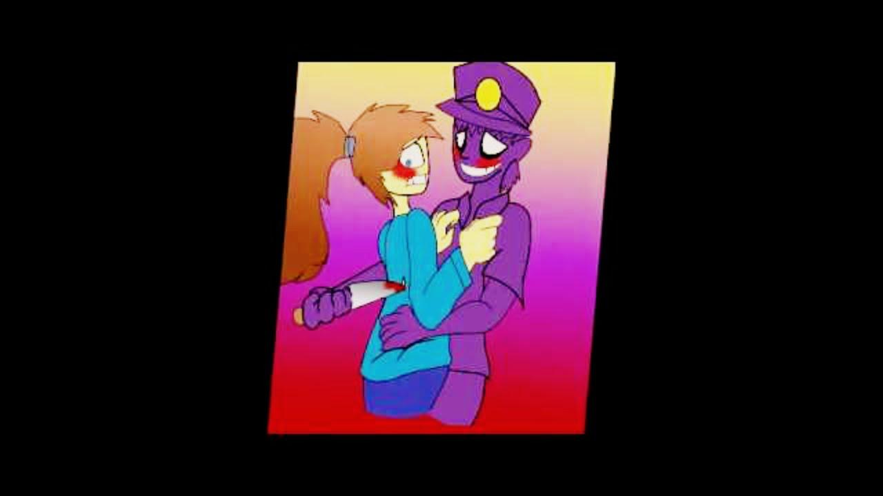 Фнаф фиолетовый человек с девушкой