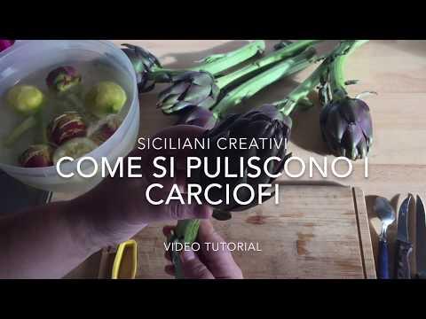 Siciliani Creativi - Come pulire i carciofi, tutorial - How to clean artichokes