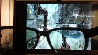 2 jugadores splitscren en pantalla completa con tele cinema 3d de lg HD