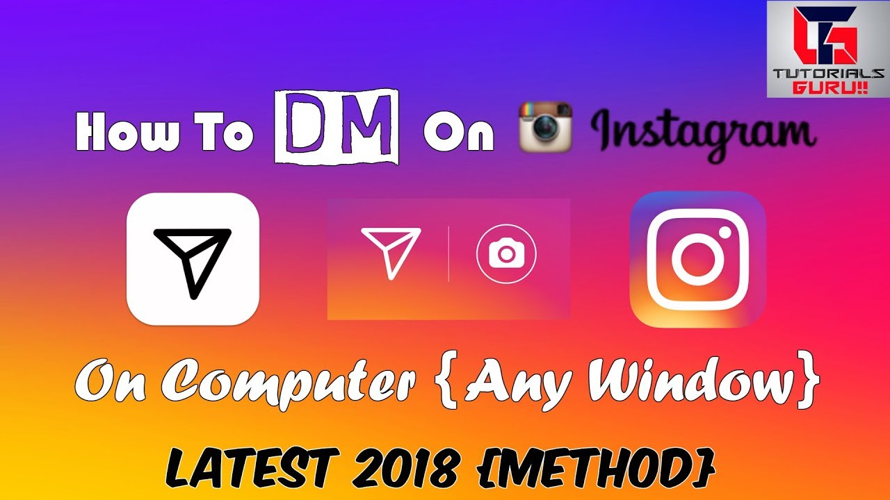How To Direct Message {DM} On Instagram On Computer | Latest 2018 Method |  100% Working | In Hindi