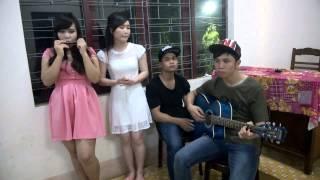 Qua cầu gió bay Guitar - Acoustic cover by Trung Kiên, Thu Hằng, Sian, Đhăm Kmăn