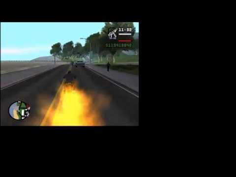 Como Hacer La Moto Del Vengador Fantasma\ Tutorial Gta San Andreas.