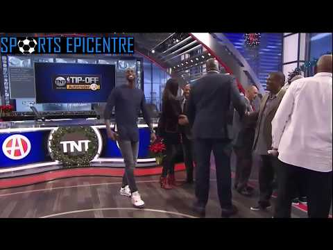 Kevin Garnett, Dr.J & Legends Invade The Inside The NBA Studio!