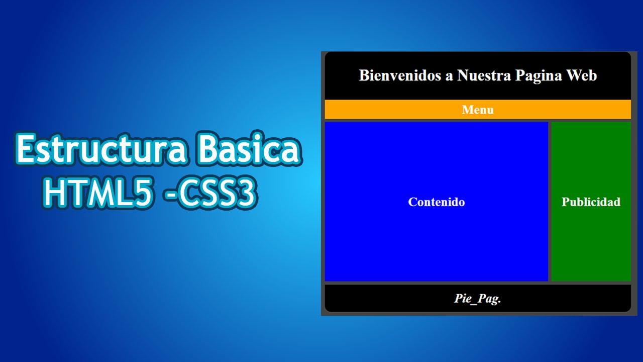 Página 3 De 5: Estructura Basica Pagina Web HTML 5 Y CSS3