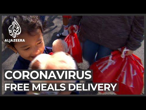 Coronavirus in US: Volunteers deliver meals to poorest students