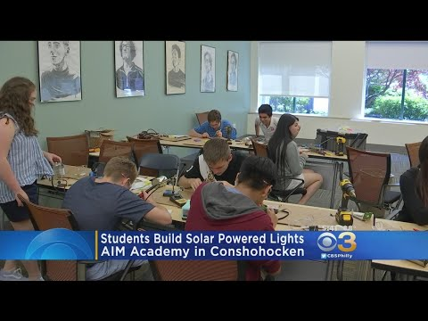 Students Build Solar Powered Lights At AIM Academy