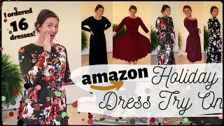 HUGE Modest Amazon Try On Haul for the HOLIDAYS | Modest Mennonite Dress Ideas