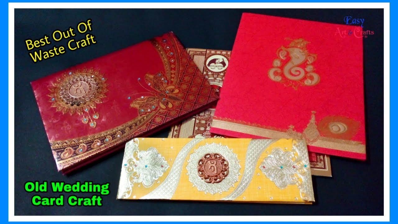 Best Use Of Old Marriage / Wedding Cards Ideas - Best Out Of Waste Craft - DIY Home Decor Ideas  sc 1 st  YouTube & Best Use Of Old Marriage / Wedding Cards Ideas - Best Out Of Waste ...