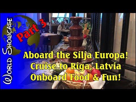 World Showcase   Part 3: Food & Fun Aboard the Silja Europa   Cruise to Riga, Latvia