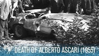 Death Of Alberto Ascari on The Monza Eni Circuit (1955) | British Pathé