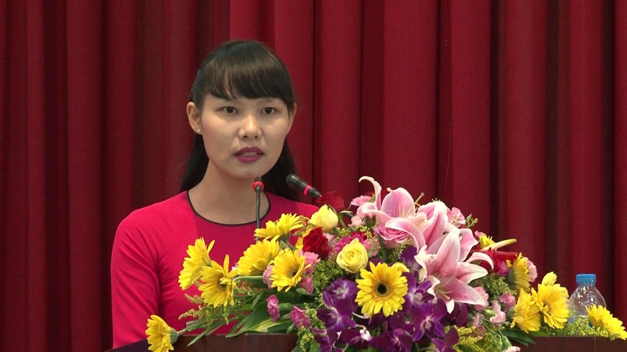 SV Nguyễn Thị Hằng – KTTH K52 phát biểu | Kỷ niệm 25 năm thành lập trường | 2015.04.26.(17)