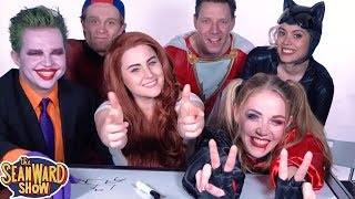 Blindfold Drawing Challenge!!! Spider-Man, Joker, Harley Quinn & more - The Sean Ward Show