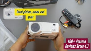 Best $100 Mini LED Projector - Supports Airplay & Android Miracast