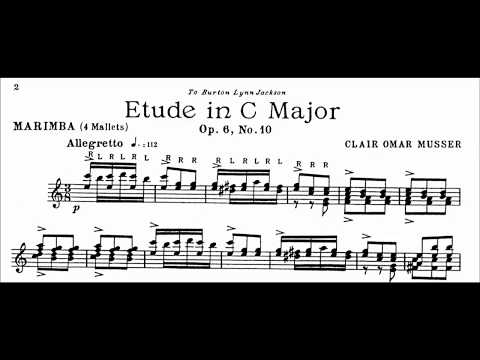Clair Omar Musser Etude Op. 6, #10 in C Major
