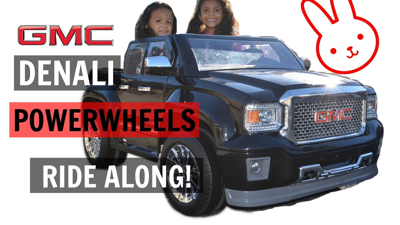 ride along in our gmc denali power wheels truck youtube. Black Bedroom Furniture Sets. Home Design Ideas