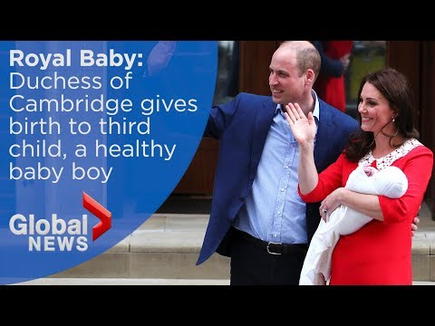 Royal baby: William and Kate welcome third child, a baby boy