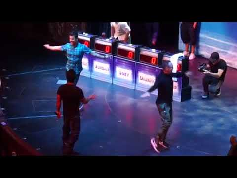 NKOTB Cruise 2017, game show, early dining, part 1