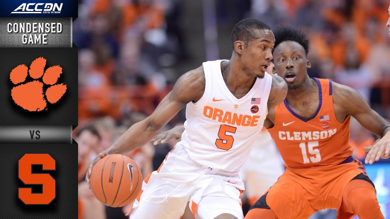 Clemson Vs Syracuse Condensed Game 2018 19 Acc Basketball Youtube