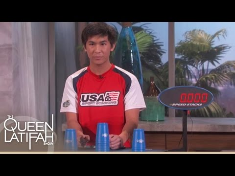 World Stacking Champion Shows Off His Speed | The Queen Latifah Show