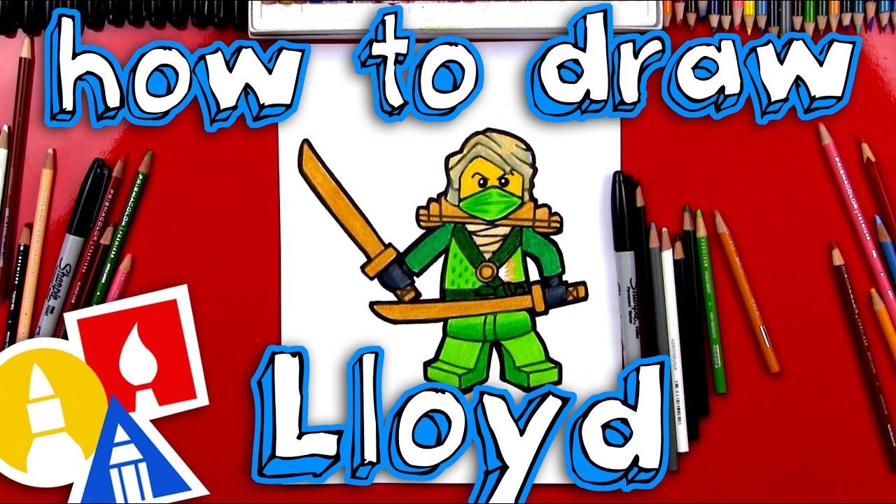 How To Draw Lloyd From Ninjago Youtube