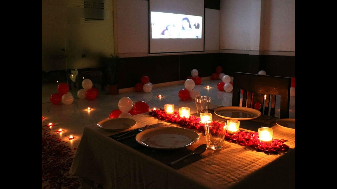 Private Candlelight Dinner in Delhi - YouTube